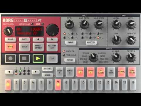 Korg iElectribe R - iPhone DnB Jam (DJ Galactic)
