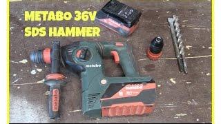 METABO KHA 36 LTX CORDLESS HAMMER - Tool Review