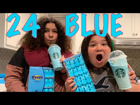 24 HOURS EATING ONLY BLUE FOOD CHALLENGE