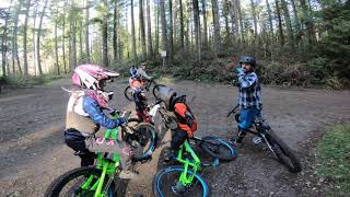 An Amazing Group Of Mountain Bike Kids And Parent Shredding Hard At Duthie Hill