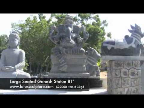 Custom Large Ganesh Statue With 2 Rats 81