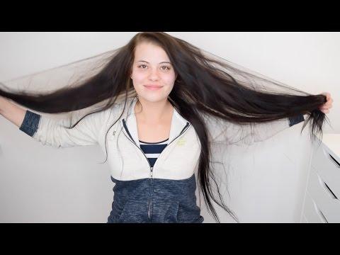 Die Maske für den Umfang des Haares mit der Sauermilch