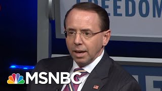 GOP Shows Inconsistency Regarding Deputy Attorney General Rod Rosenstein | Morning Joe | MSNBC