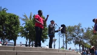DC @ Impeachment March Justin Herman Plaza San Francisco California (July 2, 2017)