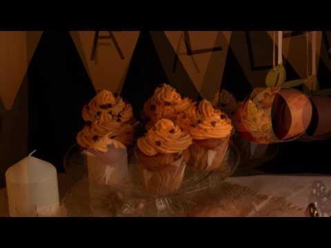 Receita de cupcakes de Outono