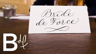 DIY Wedding Invitations: Calligraphy