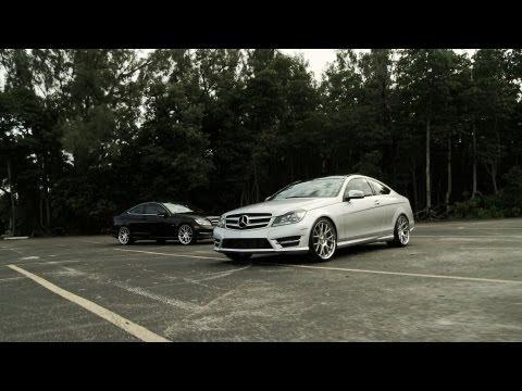 """Mercedes Benz C-Class C250 & C350 Coupes on 20"""" Vossen VVS-CV2 Concave Wheels / Rims"""
