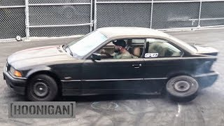 [HOONIGAN] DT 035: We Add a Muffler and Lose a Wheel on our $350 BMW E36