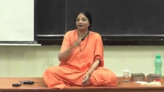 Swamini Vimalananda Speaks On Mind Management At IIT Kanpur On 26 Sept. 2014