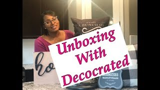 Decocrated Unboxing!   Home Decor Unboxing