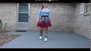 Line Dance Demo:  A Woman And A Man (Reba McEntire) choreo Tripp