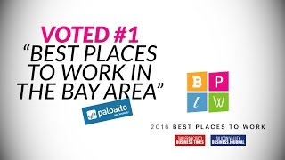 """Voted #1: """"Best Places To Work in the Bay Area"""" - Palo Alto Networks"""