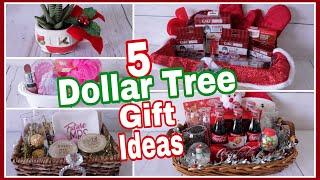 Dollar Tree Christmas Gift Baskets | DIY Gift Ideas