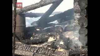 В поселке Пролетарий на улице Князева сгорел двухэтажный жилой дом