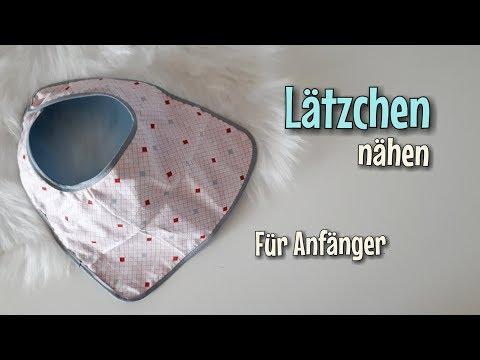 Lätzchen - Nähanleitung OHNE Schnittmuster - Für Anfänger - Nähtinchen
