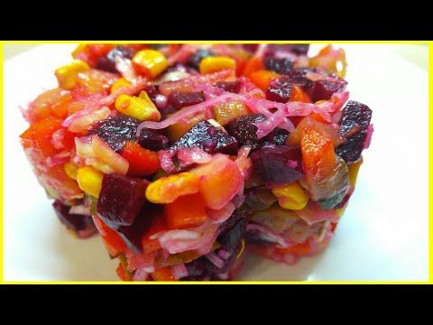 """Салат """"Винегрет"""" классический//Очень полезный и вкусный салат//Classic salad """"Vinaigrette""""//Рецепт"""