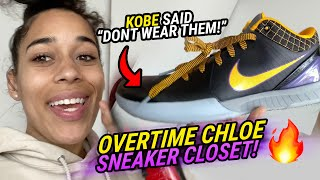 """You Can't Get These ANYWHERE!"" Overtime Chloe Shows Off Kobes, Red Bottoms & More! 🔥 Sneaker Closet"