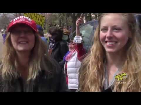 Protesters at 'Liberate Minnesota' Event