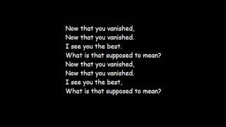 Armor For Sleep | Vanished | Lyrics
