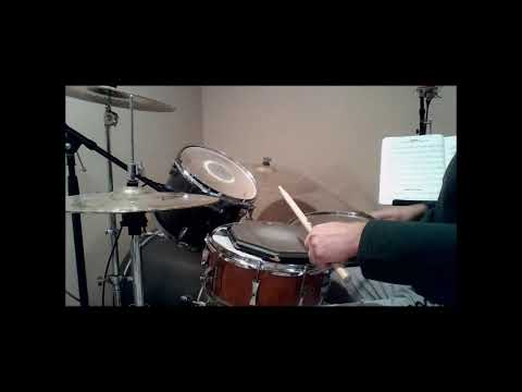 Drum Demonstration of Alfred Drum Method Book 1 Lesson 5 Combination Study with metronome