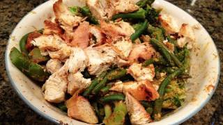 Simple Bodybuilding Cutting Meal:  Low-Carb Chicken Stir Fry