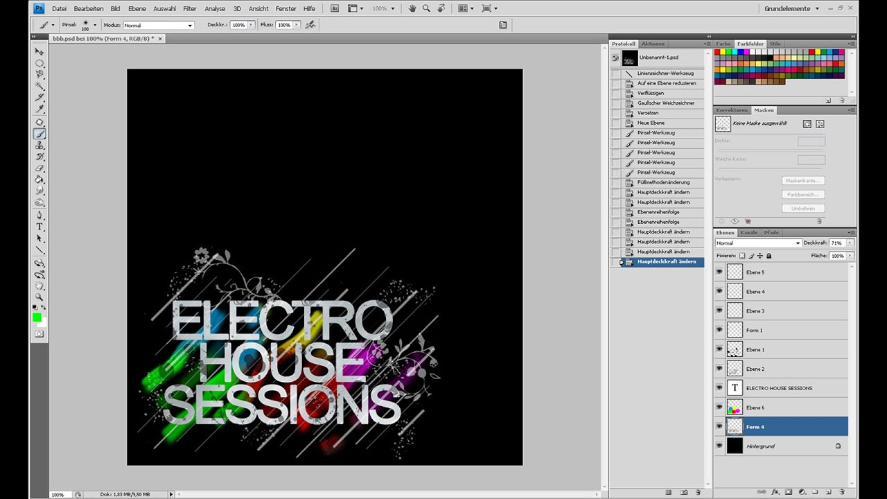CD-Cover im Electro-House-Style (2/2) – Photoshop-Tutorial
