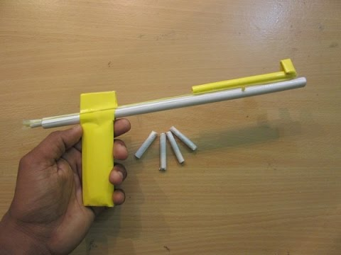 How to make a Simple Paper Gun that shoots Paper bullet -Easy Tutorials