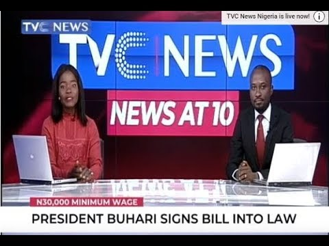 President Muhammadu Buhari signs Minimum Wage bill