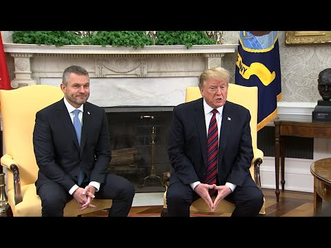 President Donald Trump met Friday with the prime minister of Slovakia. Peter Pellegrini is the latest central European leader to visit the White House as the U.S. works to curry favor in the region as a counterbalance to Russia and China. (May 3)