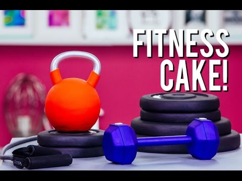 How To Make FITNESS EQUIPMENT Out Of CAKE! Vanilla Cake