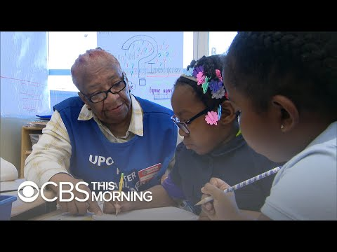 Foster grandparents volunteer and share their love at schools