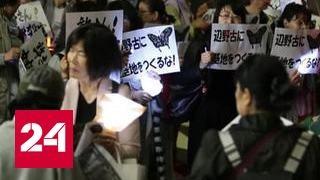 В Токио прошли массовые протесты против военного присутствия США на Окинаве