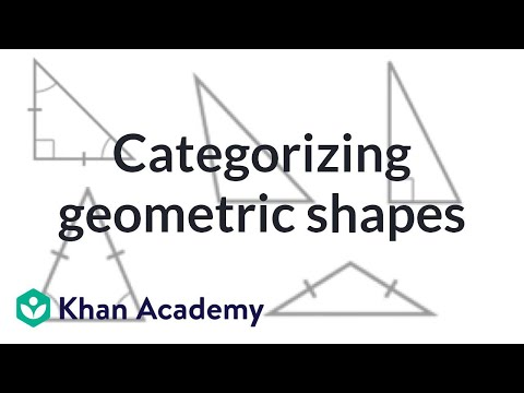 Classifying shapes by line and angles types (video)   Khan