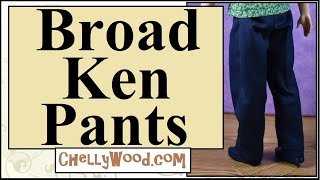 Free Doll Clothes Patterns: Broad Ken Or Action Figure Jeans Or PJ Pants