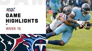 Texans vs. Titans Week 15 Highlights   NFL 2019