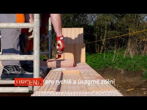 HELUZ SIDI - Pro rychlé a úsporné zdění z broušených cihel HELUZ