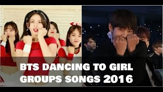 💚 BTS (방탄소년단) dancing to girl groups' songs 2016 💚