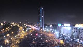 Timelapse Celebracion Plaza Italia | Chile Campeón Copa America 2015