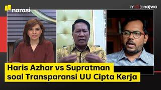 Haris Azhar vs Supratman soal Transparansi UU Cipta Kerja (Part 2) | Mata Najwa
