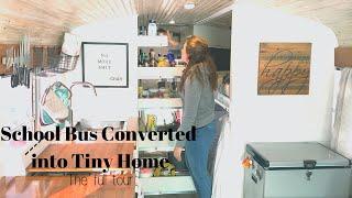 Tiny Home School Bus Conversion Tour