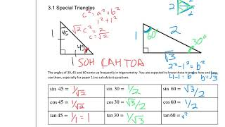 3 1 Special Triangles