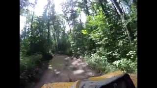 Video 5 Dead Horse ATV Trail DH9 Hayward Lakes WI area Can-Am Renegade 500