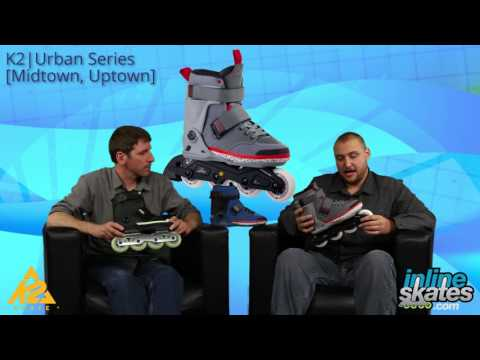 Video: 2016 K2 Midtown and Uptown Inline Skate Overview by InlineSkateDotCom