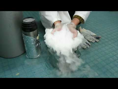 Freezing Acetone with Liquid Nitrogen