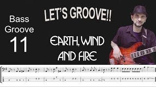 LETSGROOVEEarth,Wind&FireHowtoPlayBassGrooveCoverwithScore&TabLesson
