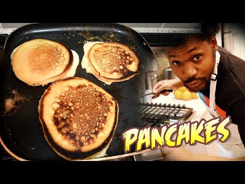 PANCAKE BREAKFAST LIKE YA MOMMA USED TO MAKE | Cooking With Kenshin #6