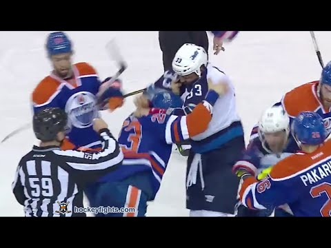 Matt Hendricks vs. Dustin Byfuglien