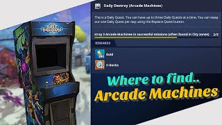 Quest Guide - How to find Arcade Machine in STW! Daily Destroy! 2020 NEW Method! (Fortnite STW)