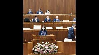 Vystúpenie v parlamente k výročnej správe pani komisárky pre osoby so zdravotným postihnutím, Zuzany