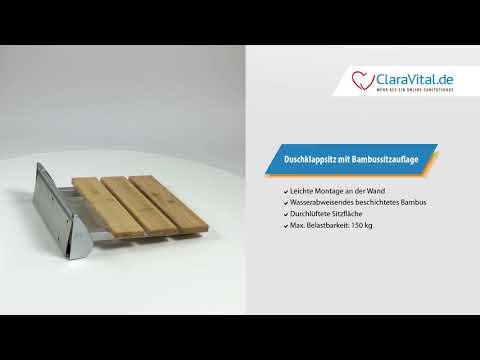 Duschklappsitz mit Bambussitzfläche bei ClaraVital